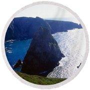 Arranmore Island, County Donegal Round Beach Towel