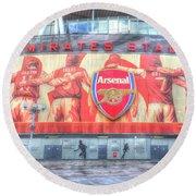 Arsenal Football Club Emirates Stadium London Round Beach Towel