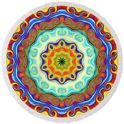 Art Round Beach Towel