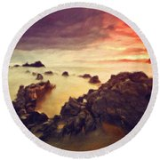 Art Of Landscape Round Beach Towel