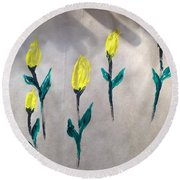 Art Therapy 220 Round Beach Towel