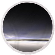 Artic Night Round Beach Towel