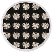 Artistic Sparkle Floral Black And White Graphic Art Very Elegant One Of A Kind Work That Will Show G Round Beach Towel
