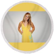 Ashley Tisdale Round Beach Towel