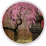 Asian Spring Round Beach Towel by Chris Lord
