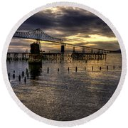 Astoria-megler Bridge 5 Round Beach Towel