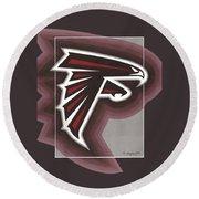 Atlanta Falcons Logo T-shirt Round Beach Towel