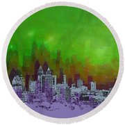 Atlanta Skyline 4 Round Beach Towel