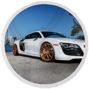 Audi R8 Round Beach Towel