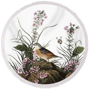 Audubon: Sparrow, (1827-38) Round Beach Towel