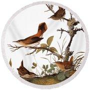 Audubon: Wren Round Beach Towel