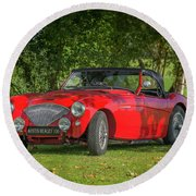 Austin Healey 100 Round Beach Towel