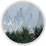 Australia - Surf Mist Shrouds Our View Round Beach Towel