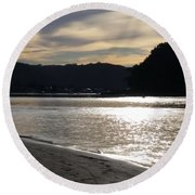 Australia - Sun Glistens On Umina Beach Round Beach Towel
