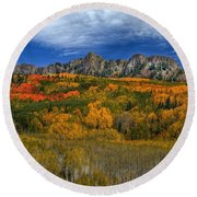Autumn Crown Round Beach Towel