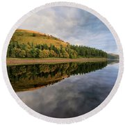 Autumn Derwent Reservoir Derbyshire Peak District Round Beach Towel