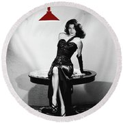 Ava Gardner Film Noir Classic The Killers 1946-2015 Round Beach Towel