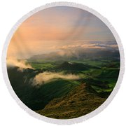 Azores Islands Landscape Round Beach Towel