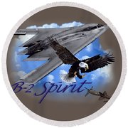 B-2 Spirit Round Beach Towel