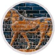 Babylon: Ishtar Gate 600 B.c Round Beach Towel