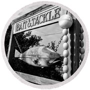 Bait And Tackle Round Beach Towel