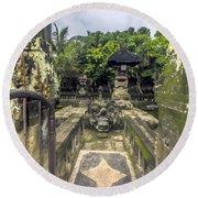Bali Temple Round Beach Towel