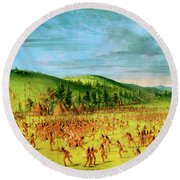 Ball-play Of The Choctaw--ball Up Round Beach Towel