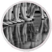 Ballet Class Round Beach Towel