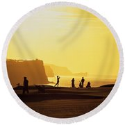 Ballycastle Golf Club, Co Antrim Round Beach Towel