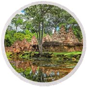 Banteay Srei Temple - Cambodia Round Beach Towel