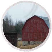 Barn And Shed Round Beach Towel
