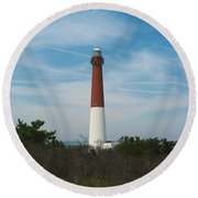 Barnegat Lighthouse - New Jersey Round Beach Towel