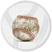 Baseball Round Beach Towel