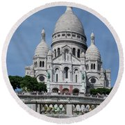 Basilica Du Sacre-coeur De Montmartre Round Beach Towel