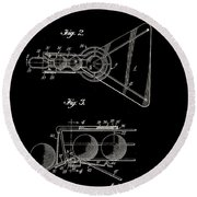 Basketball Practice Device Patent 1960 Part 2 Round Beach Towel