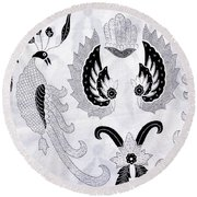 Batik  Round Beach Towel