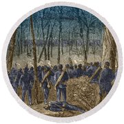 Battle Of The Wilderness, 1864 Round Beach Towel