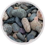 Beach Of Stones Round Beach Towel