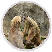 Bears Round Beach Towel