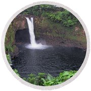 Beautiful Rainbow Falls 2 Round Beach Towel
