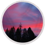 Beautiful Sunrise Round Beach Towel