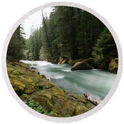 Beautiful White Water Round Beach Towel