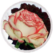 Beauty Rose Round Beach Towel
