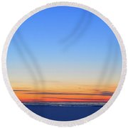 Before Sunrise At Oro Station  Round Beach Towel