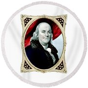 Ben Franklin - Two Round Beach Towel
