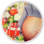 Best Present For Christmas Round Beach Towel