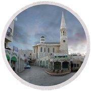 Bethlehem - Al Madbasa Street Round Beach Towel