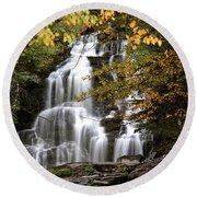 Bijoux Falls In Beautiful British Columbia Round Beach Towel