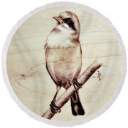 Bird Round Beach Towel