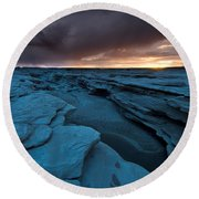 Bisti Fissure New Mexico Round Beach Towel
